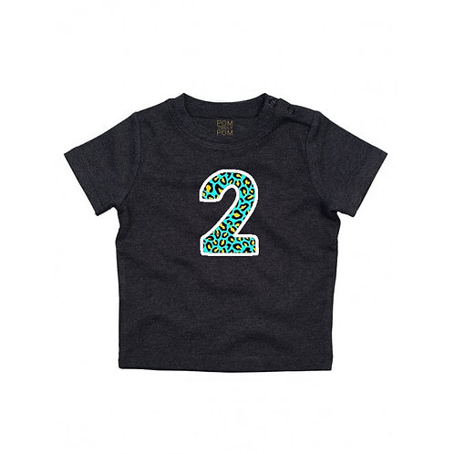 Baby Charcoal Number Tee