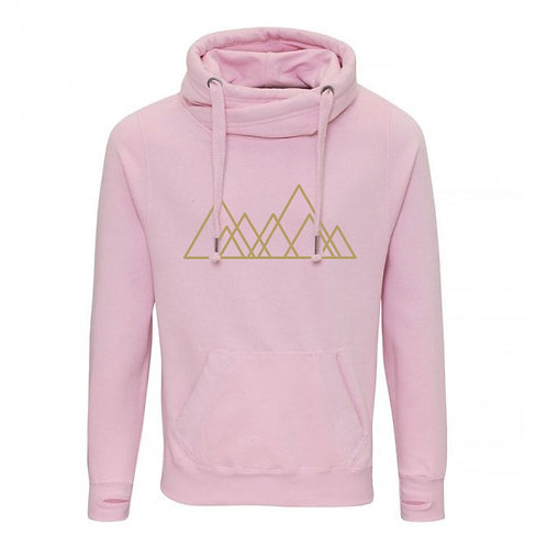 Adult Seven Hills (Sheffield) Cowl Neck Hoodie Pink