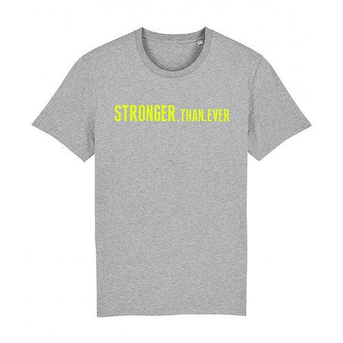 Mens Stronger.Than.Ever Tee Grey, Navy