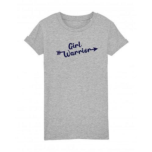 Kids Girl Warrior Tee Grey