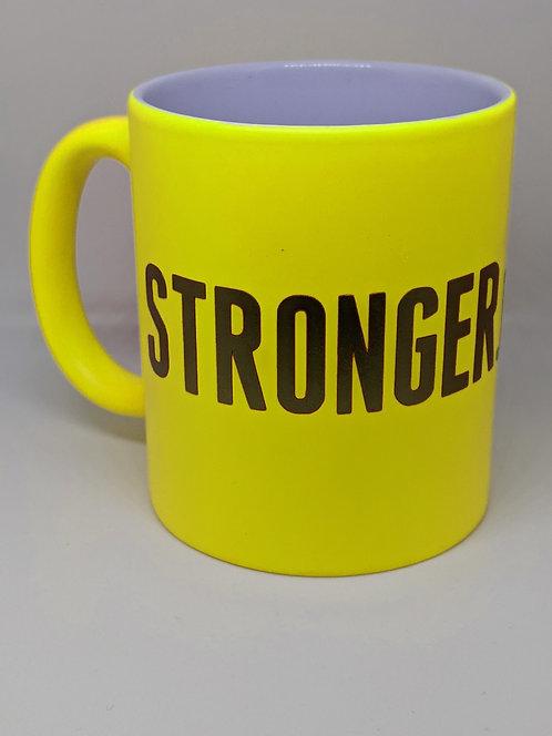 Stronger.Than.Ever Neon Yellow Mug
