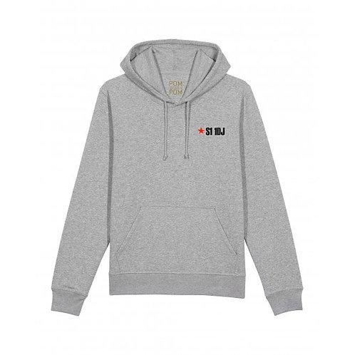 Adult S1 1DJ (Sheffield) Hoodie Grey
