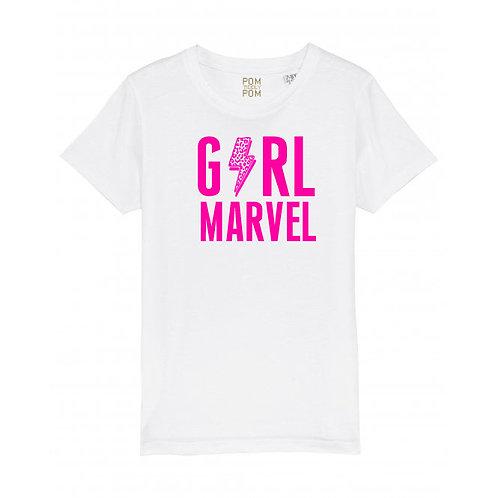 Kids Girl Marvel Tee White