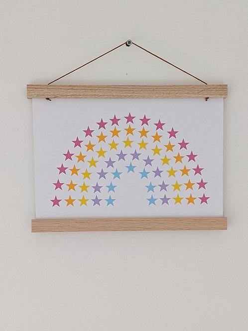 'Star Rainbow' Bright A4 (unframed)