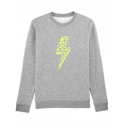 Leopard Bolt Sweatshirt Grey