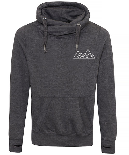 Adult Seven Hills (Sheffield) Left Chest Cowl Neck Hoodie Charcoal