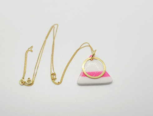 'Sherbet Dip' Triangle Pendant Necklace