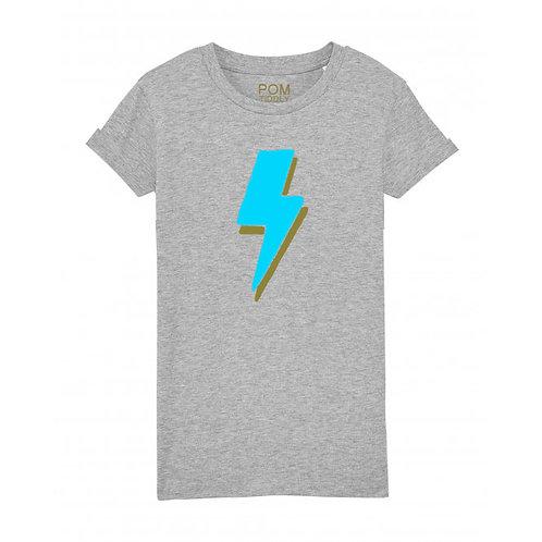 Kids Lightning Bolt Tee Grey
