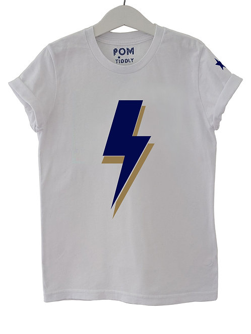 Lightning Bolt Tee White