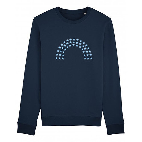 Rainbow Sweatshirt Navy
