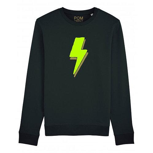 Lightning Bolt Sweatshirt Black