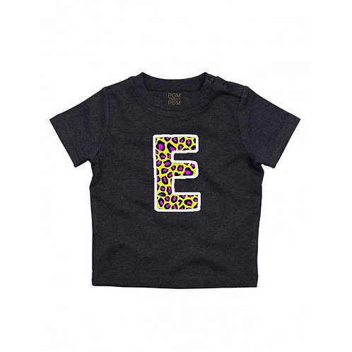 Baby Charcoal Initial Tee