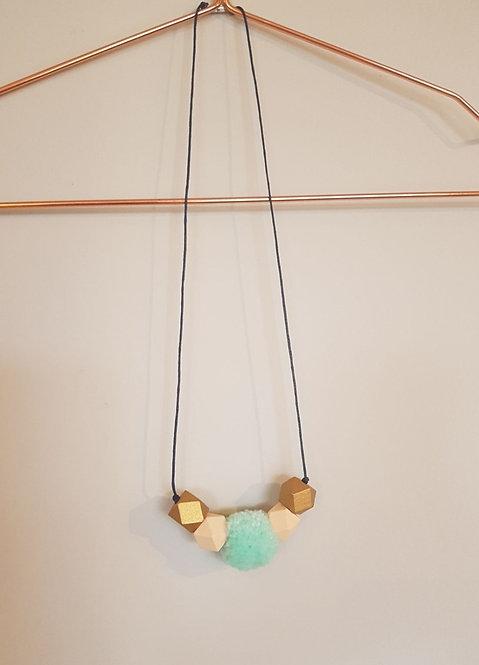 Geometric pom necklace in 'Mayfield'
