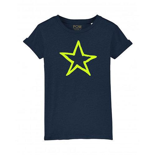 Kids Star Tee Navy