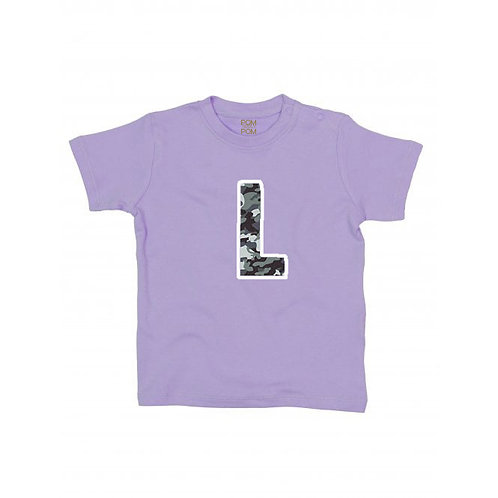 Baby Lilac Initial Tee