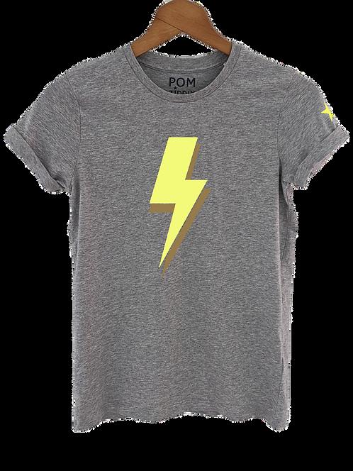 Lightning Bolt Tee Grey