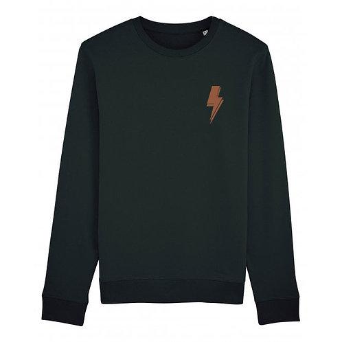 Lightning Bolt Sweatshirt Black (small left chest)