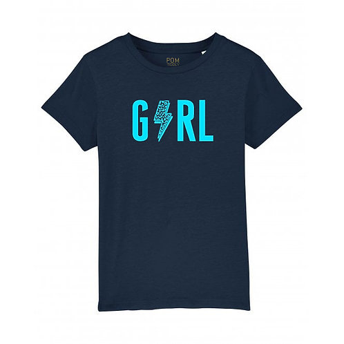 Kids Girl Tee Navy