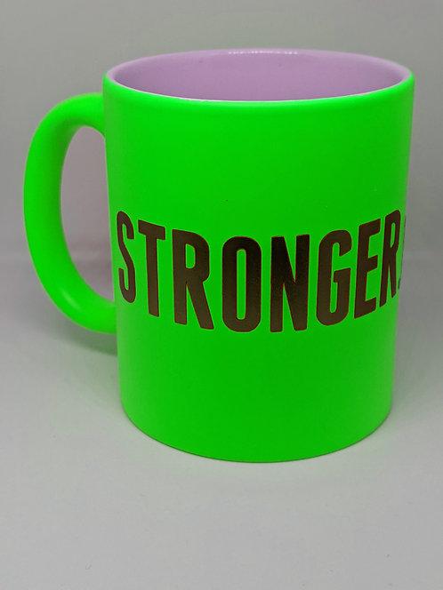 Stronger.Than.Ever Neon Green Mug