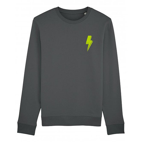 Lightning Bolt Sweatshirt Anthracite (small left chest)