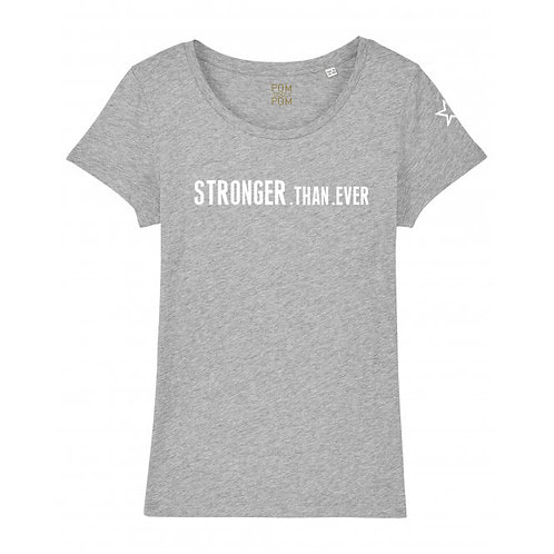 Womens Lightweight Stronger.Than.Ever Tee Grey