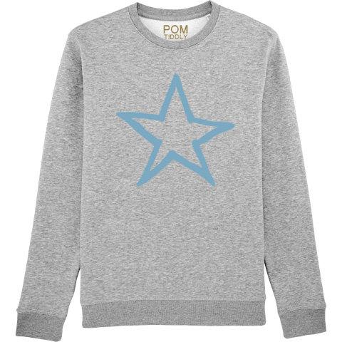 Star Sweatshirt Grey