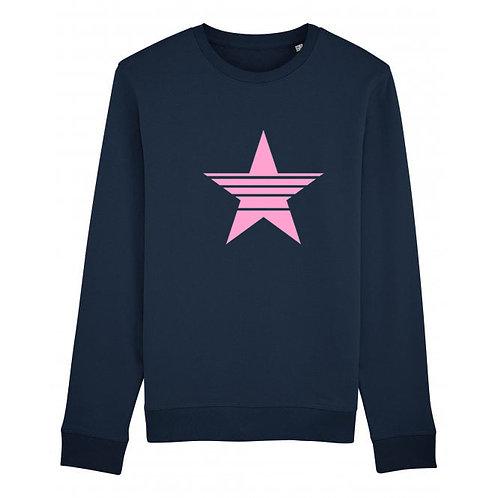 Strikethrough Star Sweatshirt Navy