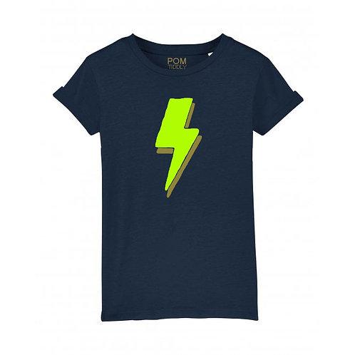 Womens Lightning Bolt Tee Navy