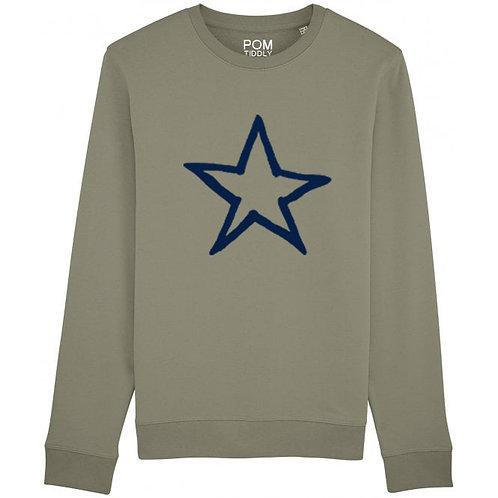 Star Sweatshirt Khaki
