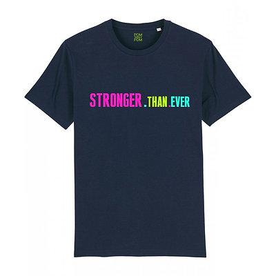 Kids Neon Stronger.Than.Ever Tee Navy