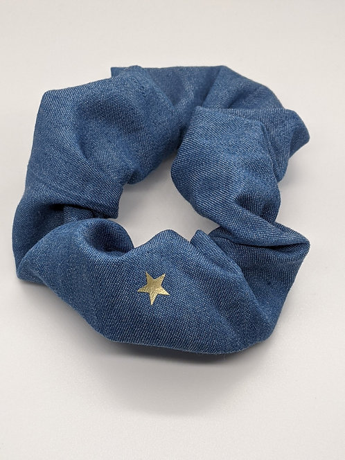 Denim Hair Scrunchie