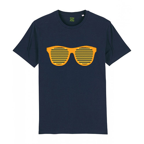 Adult Retro Sunglasses Neon Orange Tee