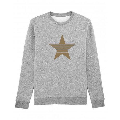 Strikethrough Star Sweatshirt Grey