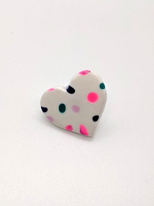 Heart Pin Badge 3cm