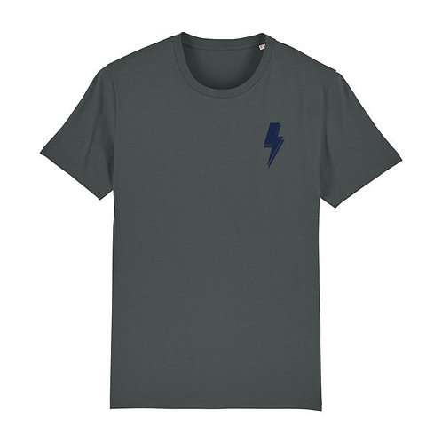 Mens Lightning Bolt Tee (chest decal) Anthracite