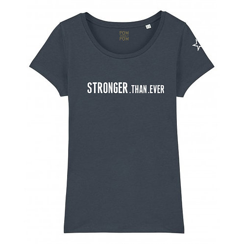 Womens Lightweight Stronger.Than.Ever Tee Anthracite