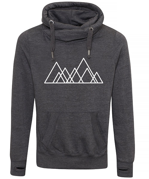 Adult Seven Hills (Sheffield) Cowl Neck Hoodie Charcoal