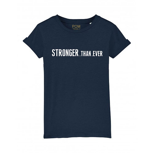 Kids Stronger.Than.Ever Tee Navy