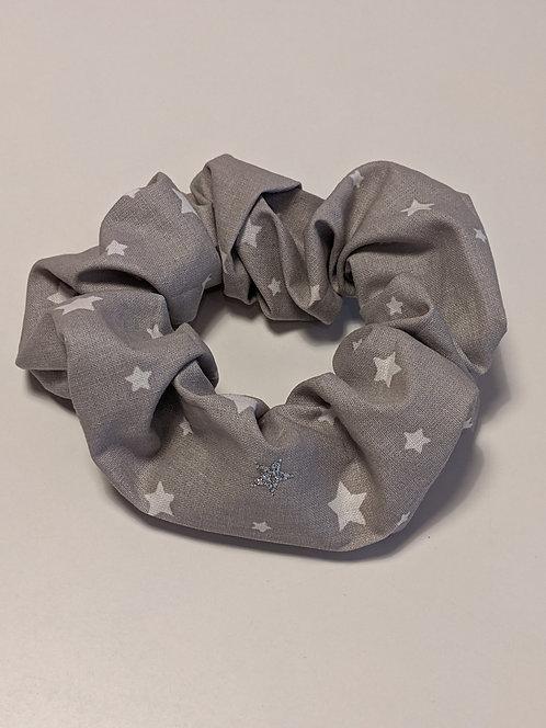 Grey Stars Hair Scrunchie