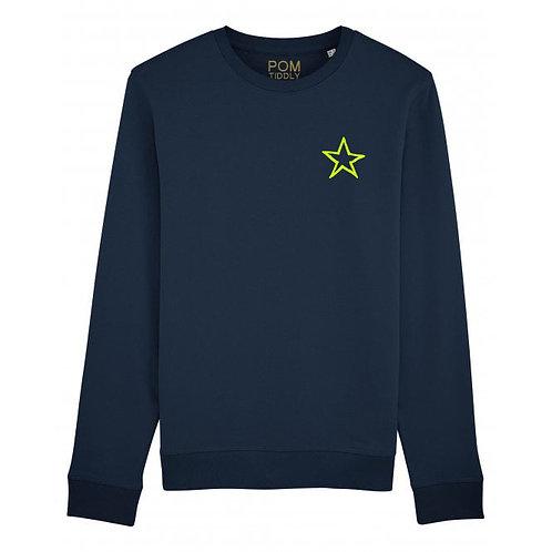 Star Sweatshirt Navy (small left chest)
