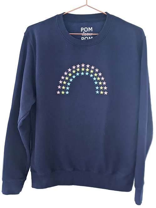 Rainbow Sweatshirt Navy
