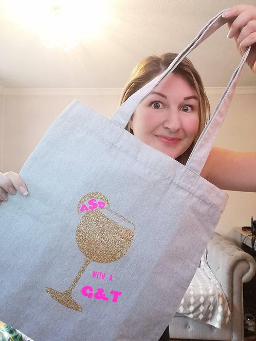 'ASD with a G&T' Tote bag