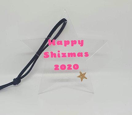 'Happy Shizmas 2020' Acrylic Christmas Tree Decoration