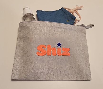 'Shiz' Cotton Canvas Pouch