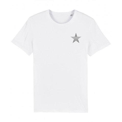 Mens Strikethrough Star Tee (chest decal) White