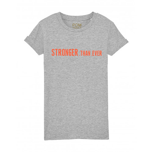 Womens Stronger.Than.Ever Tee Grey