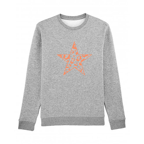 Leopard Star Sweatshirt Grey