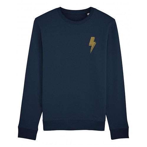 Lightning Bolt Sweatshirt Navy (small left chest)