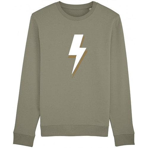 Lightning Bolt Sweatshirt Khaki