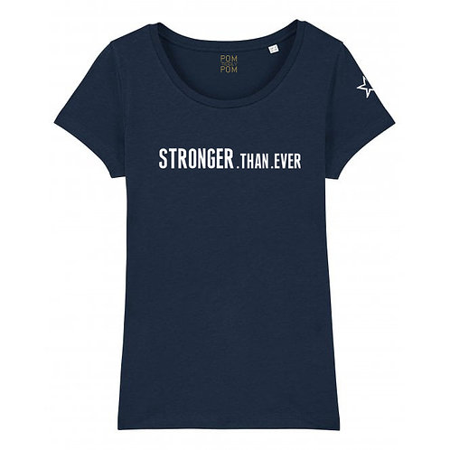 Womens Lightweight Stronger.Than.Ever Tee Navy